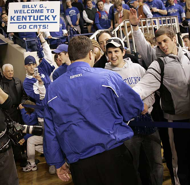 Kentucky fans are on hand to welcome former Texas A&M coach Billy Gillispie to Lexington.