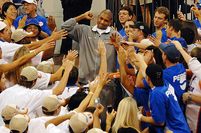 Like Noah, Horford was a star attraction in Gainesville on Friday.