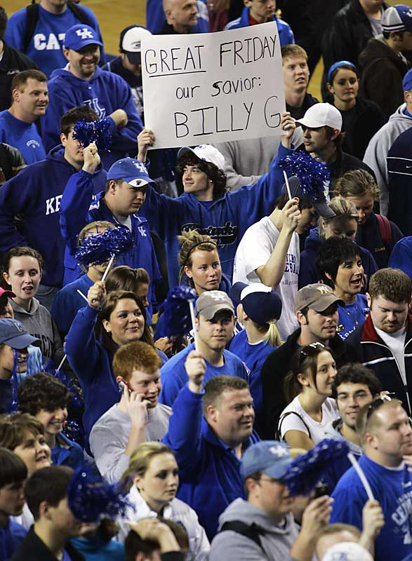 After struggling through the Tubby Smith era, Kentucky fans let Billy Gillispie know that he is their savior.