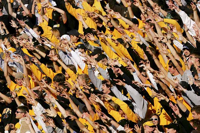 CU fans do the wave during a game against Arizona State last September.