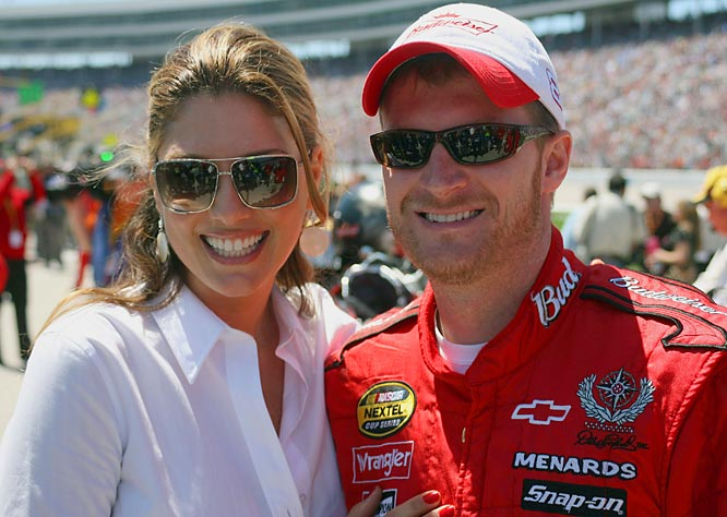 Daisy Fuentes, posing with Dale Earnhardt Jr., spices up last week's Samsung 500.