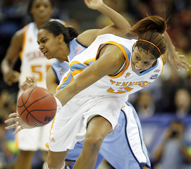 Candace Parker scored 14 points and pulled down 13 rebounds against North Carolina.