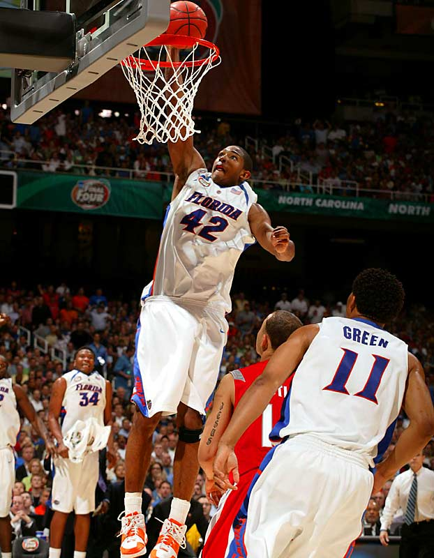 Al Horford had a team-high 18 points and 12 rebounds for the Gators.