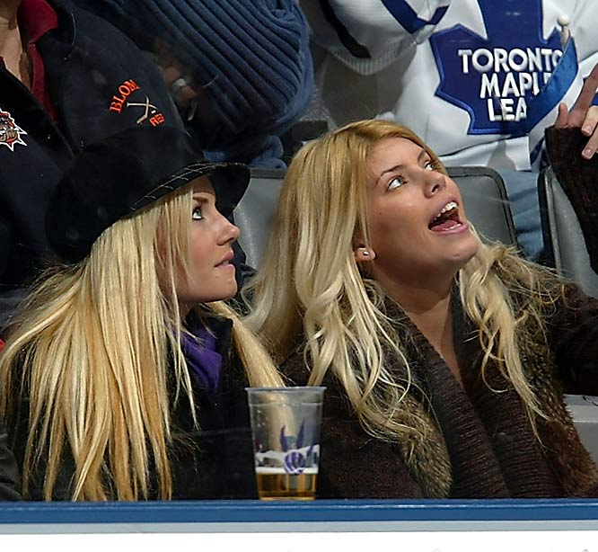 Elisha Cuthbert (left) loves hockey (and her boyfriend, Sean Avery) so much that she holds Kings season tickets and at one time kept up an NHL.com blog.
