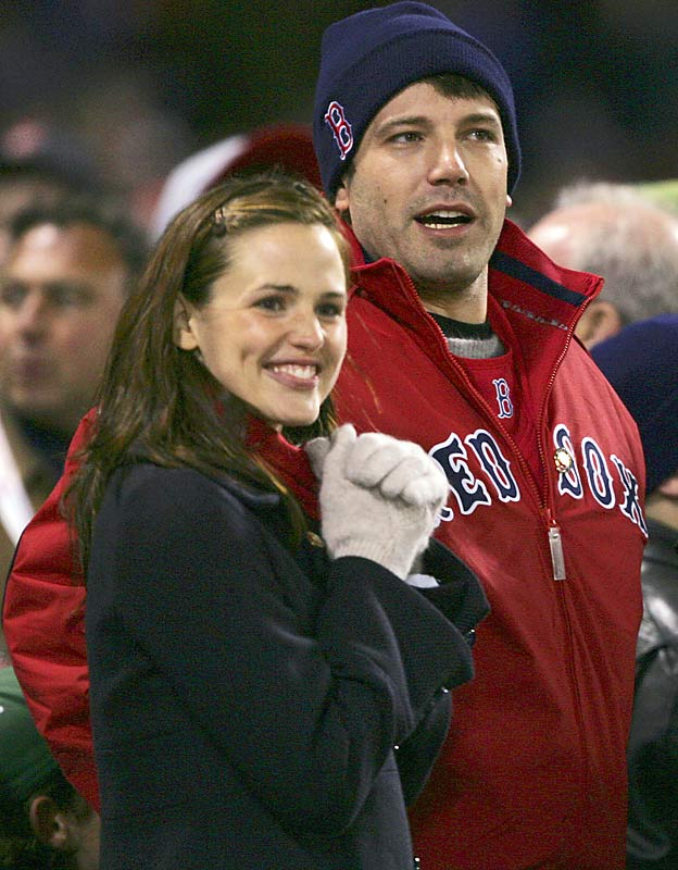 Ben Affleck, who was previously seen at Fenway Park with that other Jennifer, introduces his wife, Jennifer Garner, to his favorite team.
