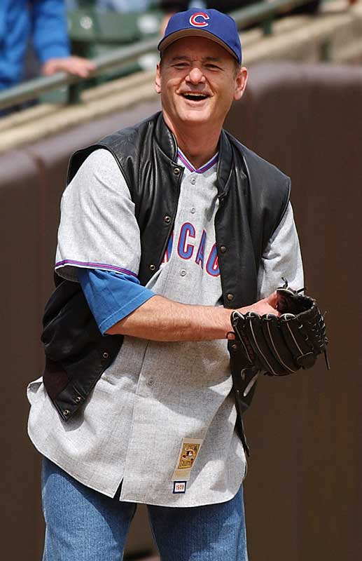 Illinois native Bill Murray really loves his Cubs.