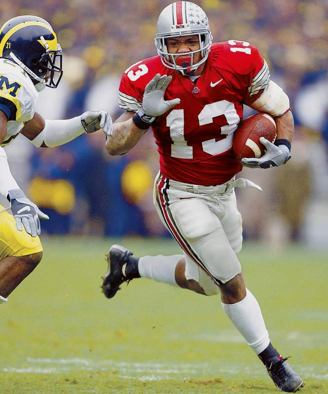 Probably the most prolific early enrollee ever, Clarett rushed for 1,237 yards and 18 touchdowns while leading Ohio State to a 14-0 season and the national championship.