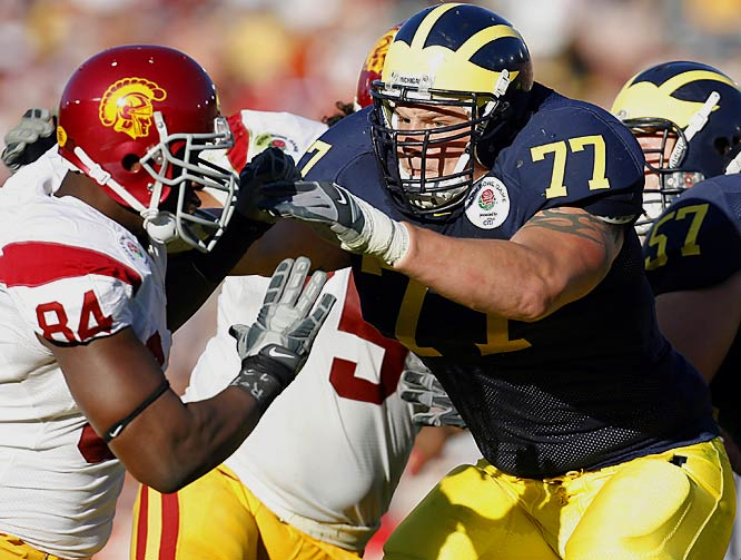 Michigan's mammoth offensive tackle (6-foot-7, 315 pounds) has been a rock since his freshman year in Ann Arbor. Long probably would have been a first-round pick had he gone pro.