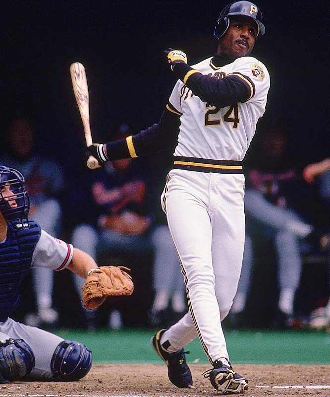 Barry Bonds<br>Date, Site: July 12, 1990, Three Rivers Stadium<br>Pitcher: Andy Benes<br>Inning: 1st, Men on Base: 2, Outs: 2<br>Game Result: Pirates 4, Padres 3<br><br><br> Hank Aaron<br>Date, Site: Aug. 15, 1957, Crosley Field<br>Pitcher: Don Gross<br>Inning: 7th, Men on Base: 1, Outs: 2<br>Game Result: Braves 8, Reds 1