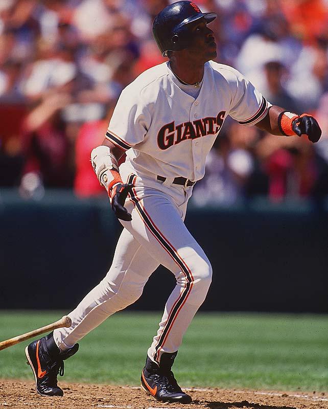 Barry Bonds<br>Date, Site: July 8, 1993, Veterans Stadium<br>Pitcher: Jose DeLeon<br>Inning: 7th, Men on Base: 0, Outs: 0<br>Game Result: Giants 13, Padres 2<br><br><br> Hank Aaron<br>Date, Site: July 3, 1960, Busch Stadium<br>Pitcher: Ron Kline<br>Inning: 7th, Men on Base: 0, Outs: 0<br>Game Result: Braves 4, Cardinals 3