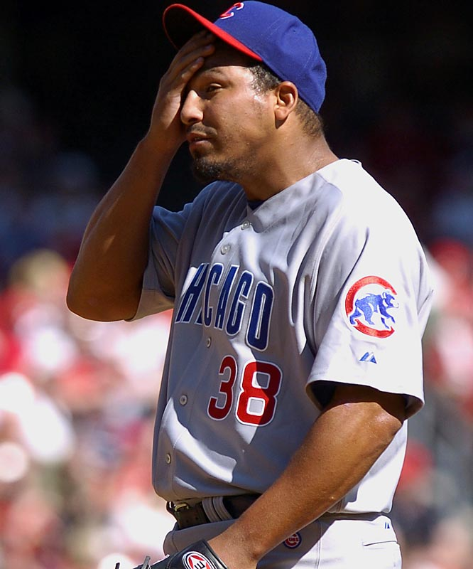 Cubs ace Carlos Zambrano had a rough outing, allowing five runs in five innings.
