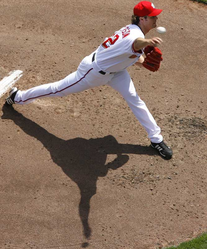 Nationals starter John Patterson was pulled after giving up six runs over 3 2/3 innings.