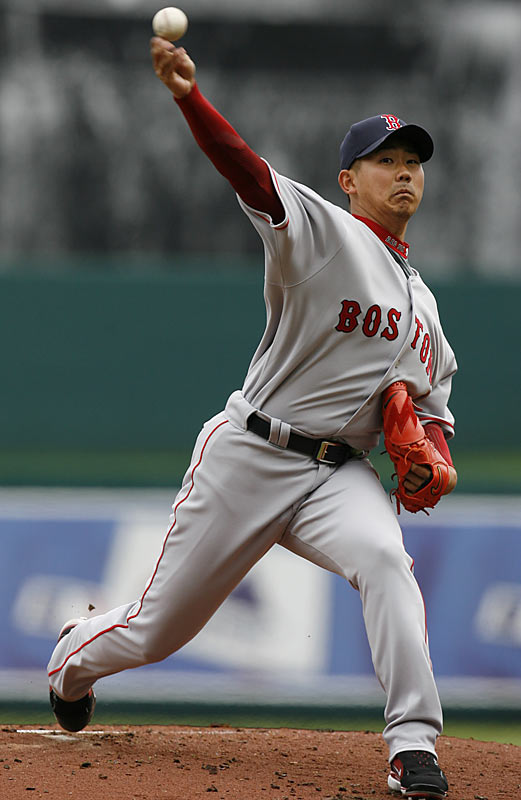In his highly anticipated major league debut, Red Sox starter Daisuke Matsuzaka had 10 strikeouts and allowed just one run over 7 innings to get the win against the Royals in a 4-1 game on Thursday.
