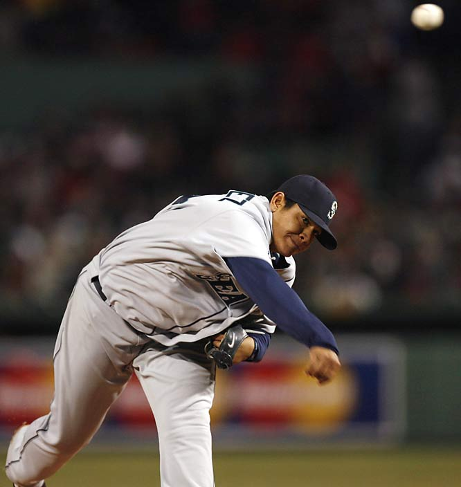 Mariners ace Felix Hernandez stole the spotlight from Dice-K by hurling a complete-game one-hitter against the Red Sox in a 3-0 win for Seattle.