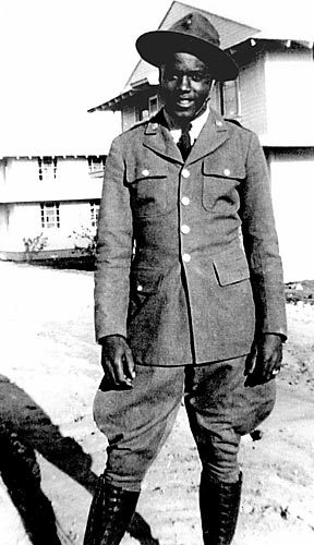 "Robinson served in the ""Black Panthers"" 761st Tank Battalion during World War II but never saw combat. He was nearly court martialled for refusing to sit in the back of a bus."