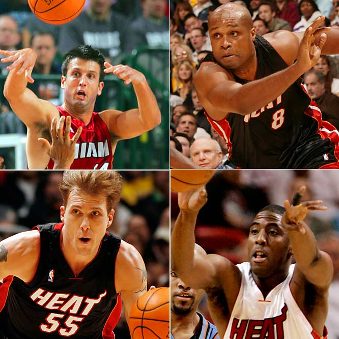 With Dwayne Wade looking mortal after gamely returning from a separated shoulder, Miami will need someone from its supporting cast to take the pressure off of Shaquille O'Neal in the low post. In other words, somebody has to hit some 3s. For most of this season, that load has been carried by Kapono, who's shooting an eye-opening 52 percent from long range. With Kapono likely to get a bit more attention in the playoffs, he'll need some help from the Heat's inconsistent veterans. If Pat Riley can get at least one of them going each night, Miami will be tough to beat for any team.