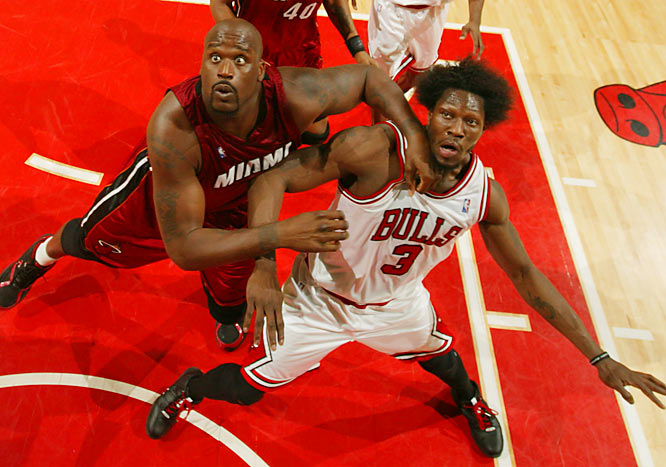 Ben Wallace (right) and Shaquille O'Neal renewed their postseason rivalry, but not for as long as Shaq would have liked: The Diesel fouled out in 26 minutes.