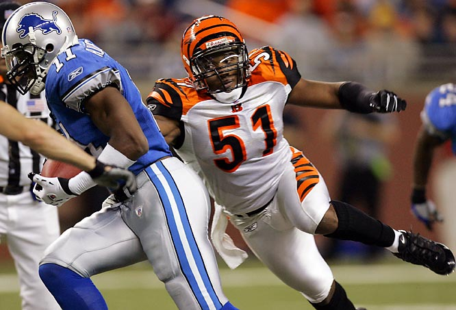 Pre-Draft:  Suspended twice at Georgia for various run-ins with the law.<br><br>Post-Draft: Numerous off-field struggles since joining the Bengals in 2005. He is currently suspended for a year for violating the league's substance abuse policy.