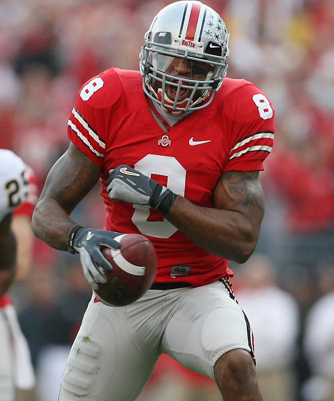 A non-productive receiver at Ohio State, Hall is a size , speed prospect who has shown minimal football ability.
