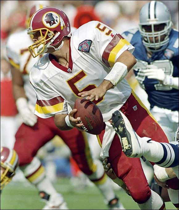 Shuler displayed all the tools at Tennessee, but he never understood the nuances of an NFL offense while in Washington. He played 19 lackluster games in three seasons with the Redskins before being displaced by Gus Frerotte. Shuler was traded to the Saints, where he lasted just one year.