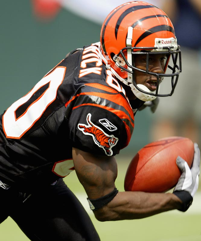 Warrick did produce some numbers in the NFL, but was nowhere near the player the Bengals thought he would be. He played five seasons in Cincy and had 18 touchdown receptions, but never made a real impact. Warrick reportedly signed with an AFL team in 2007, but never showed up.