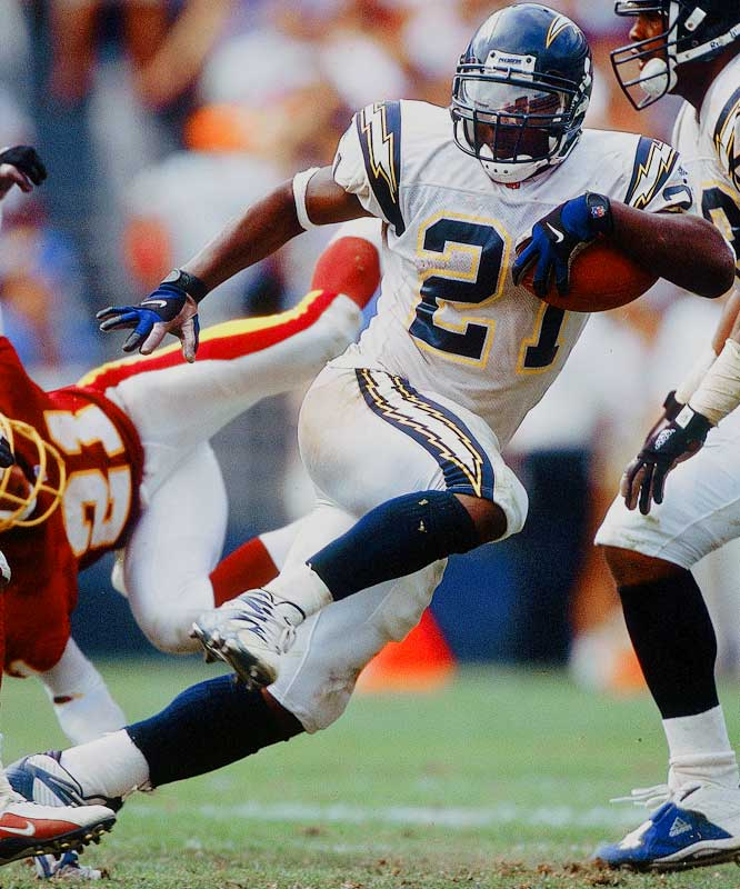 The Chargers had the No. 1 overall pick and traded down to No. 5 with Atlanta. The Falcons took Michael Vick and San Diego selected LaDainian Tomlinson, who is well on his way to a Hall of Fame career. The Chargers also got a second-round pick that they used on quarterback Drew Brees, who led them to the playoffs before departing via free agency.