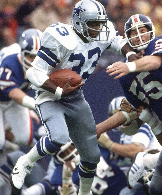 Dorsett didn't start until the 10th game, but he still made a huge impact, rushing for 1,007 yards and winning Offensive Rookie of the Year. Dorsett helped the Cowboys beat the Broncos 27-10  in Super Bowl XII.