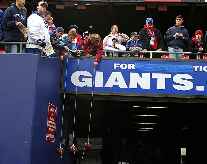 The Giants are rumored to open a gate in the end zone to create a wind tunnel effect when it's to their advantage. Even if that's not true or intentional, the swirling winds in the Meadowlands are hard to adjust to and have cost Giants' opponents many games. And don't' forget the unnerving myth that Jimmy Hoffa is buried under one end zone.