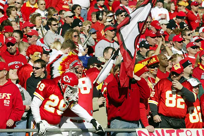 Few outdoor stadiums are louder, and the Sea of Red is visually daunting if you're not used to it. The Chiefs have an 102-34 home record at Arrowhead since 1990, the best mark in the NFL.