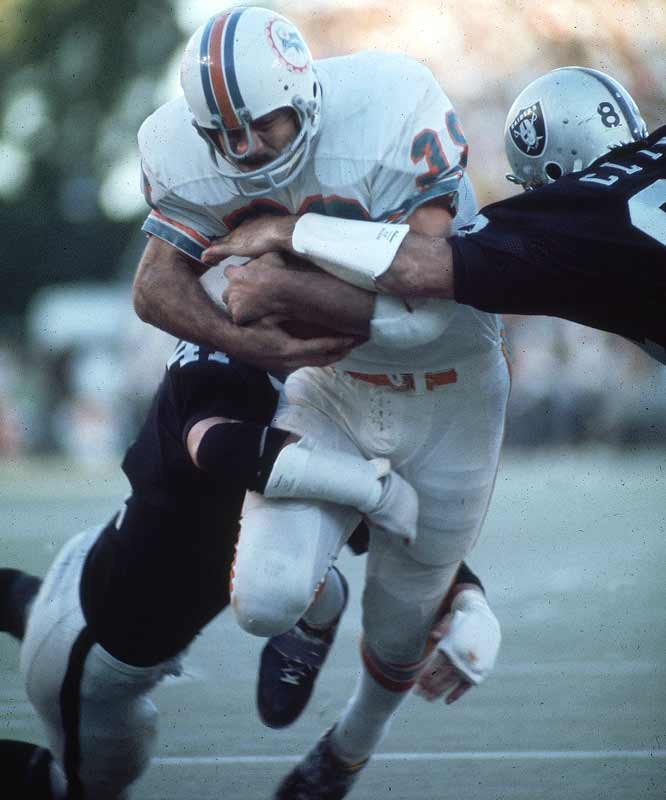 The Dolphins were tough to play against in the Orange Bowl because fans were on top of the field and opponents had trouble adjusting to the heat and humidity. But from 1970 to 1975, the Dolphins had artificial turf down and it was just unfair. The field turned into a cauldron in the Florida sun, and no team was in better shape than Don Shula's Dolphins. From 1970 to 1975, Miami lost just four home games.