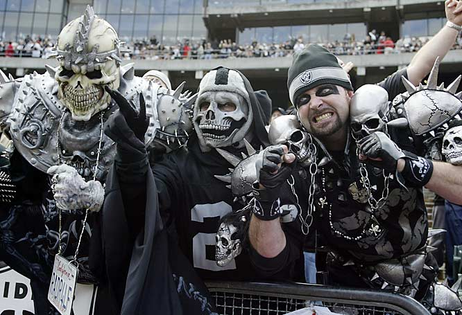 While there are plenty of charismatic fans around the nation, none are as wild as the followers of the Silver and Black. While professional football players should be immune to such things, it's hard to argue the hostile environment in Oakland has helped the Raiders tremendously across the years. Especially in the 1970s and `80s, when the team on the field was as menacing as the crowd.