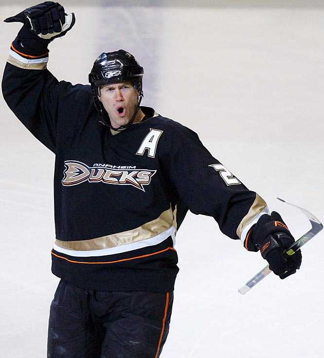 Chris Pronger struck first for the Ducks on Thursday and led the team in scoring with two goals and four assists through the series won by Anaheim, 4-1.
