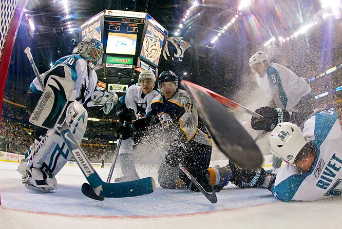 Right wing J.P. Dumont scored both short-handed and on the power-play for the Predators in the second period.