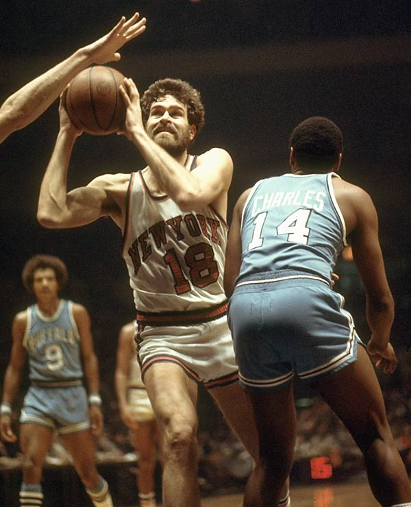 Phil Jackson has been so successful as a coach that many forget about his 13-year playing career. He spent 11 of those seasons with the New York Knicks and was a key role player on the club's 1973 championship winner. A second-round pick in 1967, Jackson averaged 6.7 points and 4.3 rebounds for his career and was regarded for his stout defense and all-out style (he once led the league in personal fouls).