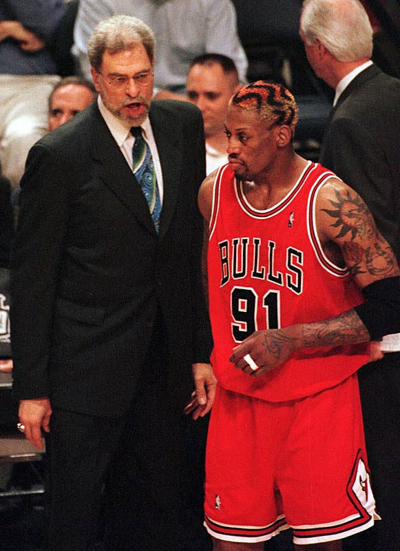 Jackson won his only Coach of the Year award in 1996, when the Bulls posted an NBA-record 72 regular-season wins before winning the title. That season was notable not only for the unprecedented dominance but also for the presence of Dennis Rodman, acquired in a preseason trade from San Antonio.