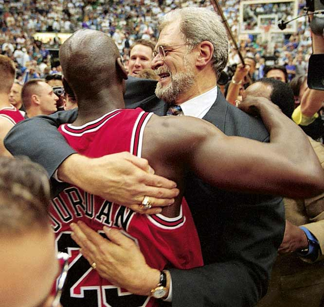 "In a season billed as the ""Last Dance,"" the Bulls won their sixth championship under Jackson when Jordan famously made the go-ahead jumper in the closing seconds of Game 6 of the 1998 NBA Finals at Utah. Jordan retired for a second time after the season, while Jackson took a year off from coaching and Pippen was traded, sending the Bulls into full-scale rebuilding mode."