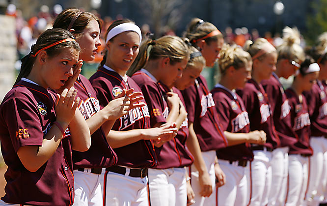In the wake of the Virginia Tech tragedy, several sports figures and entities have paid tribute to those who were killed and injured in the shootings. Here's a sampling, beginning with the Virginia Tech women's softball team. We'll add more photos towards the front of this gallery as they become available. Send comments and photos to siwriters@simail.com.