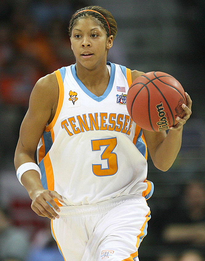 Candace Parker played 39 minutes for the Lady Vols, finishing with 17 points on 5-of-15 shooting.