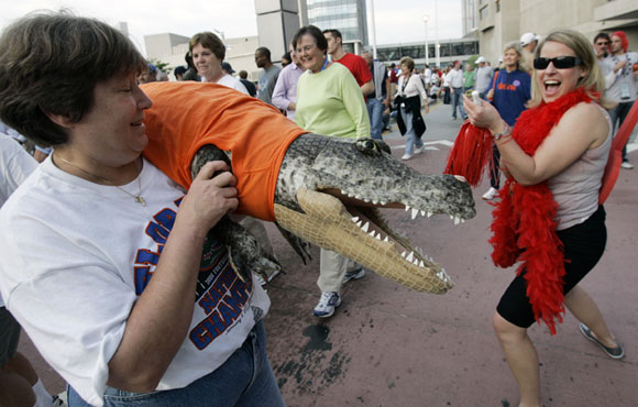 Florida fans pulled out all the stops before Monday's title game against Ohio State.