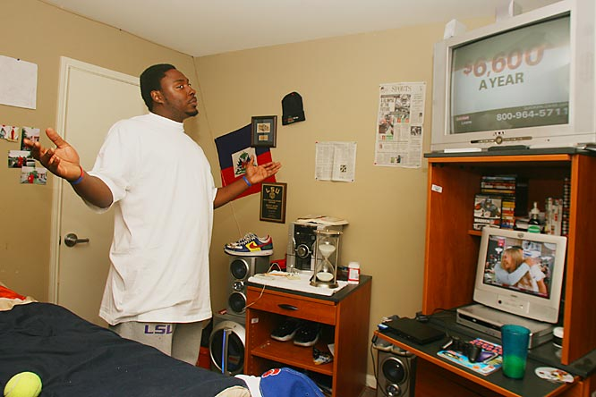 "Two televisions, a DVD player equipped with surround sound and what Ricky calls ""the baddest stereo system on campus"" is more than enough to fulfill the most audio/visual enthusiasts need for electronics. ""How many people do you know have this much stuff in their room?"" Jean-Francois said."