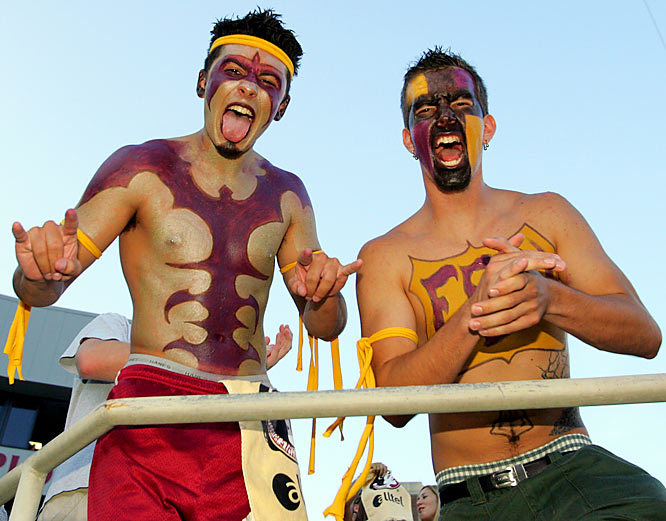 These two fans bust out the bodypaint for the Seminoles matchup against Miami in September 2005.