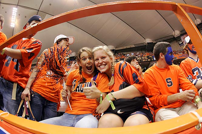 These two Syracuse students give a thumbs-up during an October 2006 game against Pittsburgh.