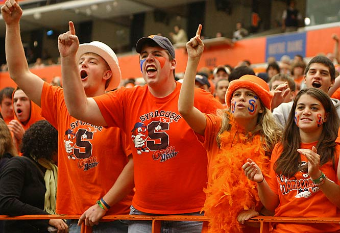 Syracuse fans are No. 1, at least according to these fans.