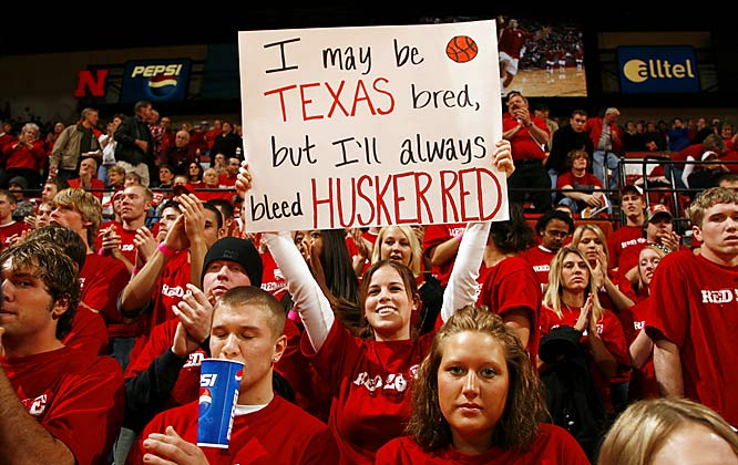 The Nebraska fan won't let her Texas upbringing get in the way of rooting for the Huskers.