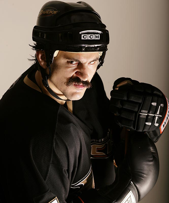 The Ducks enforcer has the best villain's `stache in the NHL, if not all of sports.
