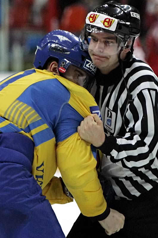 That has to be some sort of penalty on Viacheslav Zavalniuk of the Ukraine.
