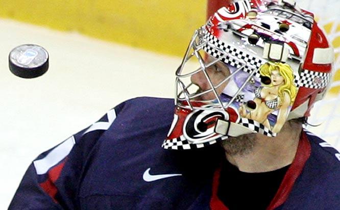 United States goalkeeper John Grahame wins the award for Best Goalie Mask.