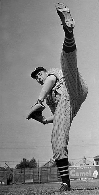 """""""Rapid Robert"""" once had his fastball clocked at 98.6 mph, which was officially the record until it was broken by Nolan Ryan. Feller used his velocity wisely, striking out 2,581 batters and posting a 266-162 record."""