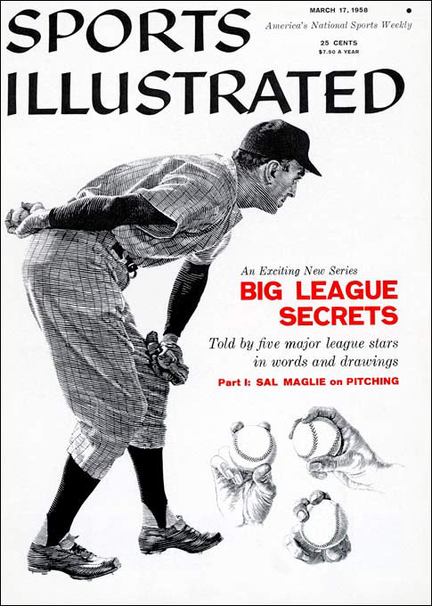 """Nicknamed """"The Barber"""" for the close shaves his brushback pitches would give hitters, Maglie used the high-and-tight pitch to set up his variety of nasty curveballs."""