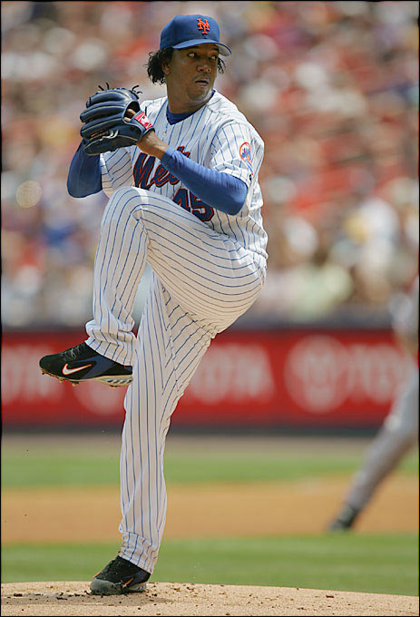 """One of the smallest power pitchers in the history of the game, Martinez (5-foot-11, 170 pounds) made his legend with a tailing fastball, a wicked curve, a nasty change and a whole lotta feistiness. During his years with Montreal, Martinez was known as """"Señor Plunk"""" -- a headhunter who was ejected 12 times in 23 starts in 1994 while ending up in three fights. In Game 3 of the 2003 ALCS, Martinez attracted the ire of Yankees bench coach Don Zimmer by making a gesture that seemed to indicate he was going to hit catcher Jorge Posada in the head."""